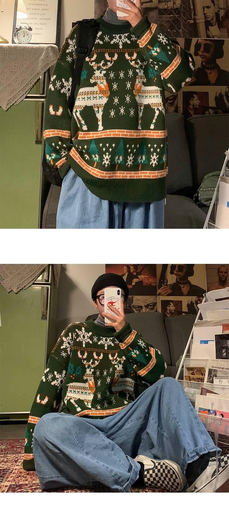 Men's Christmas Pattern Loose Sweater