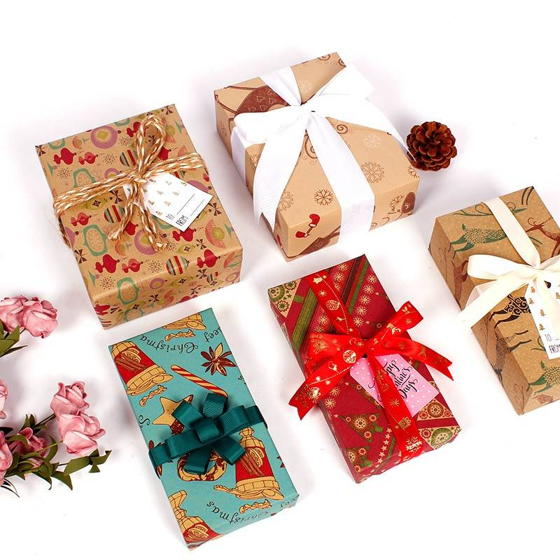 Stylish Christmas Kraft Paper 10 pcs Set