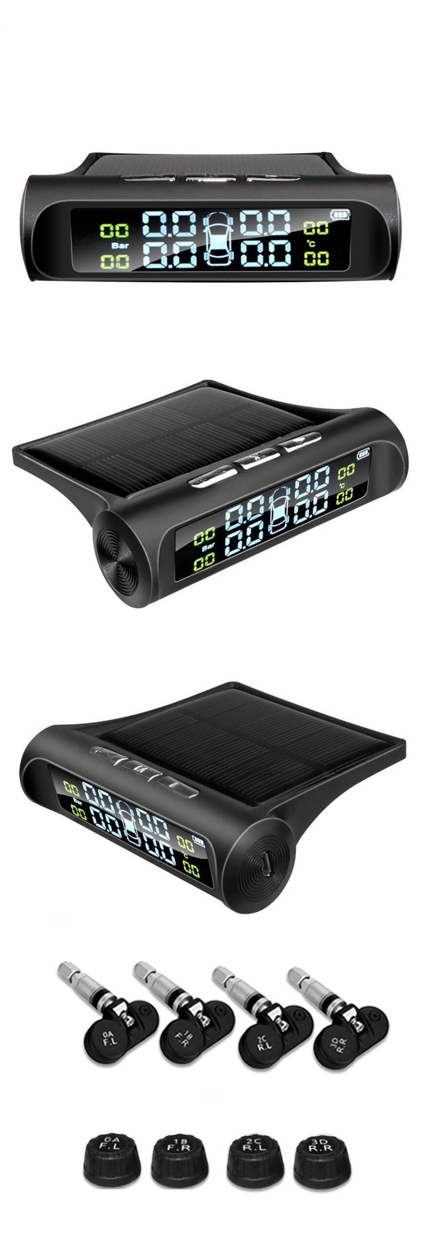 Solar Car Tire Pressure Alarm