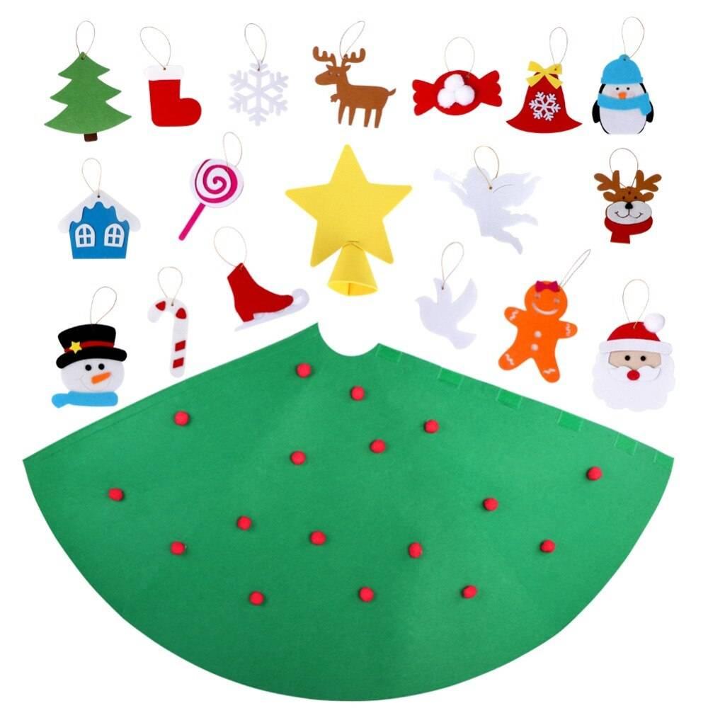 Kid's DIY Felt Christmas Tree with Hanging Ornaments