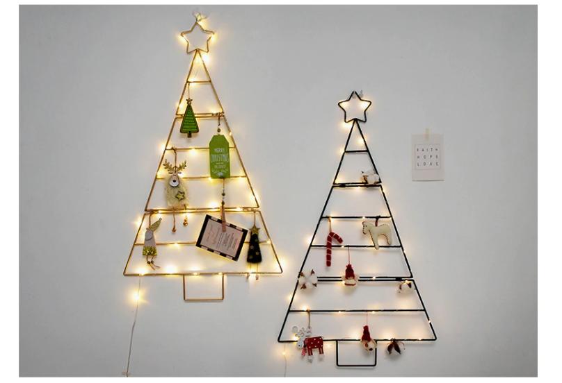Wall Hanging Iron Nordic Style Christmas Tree