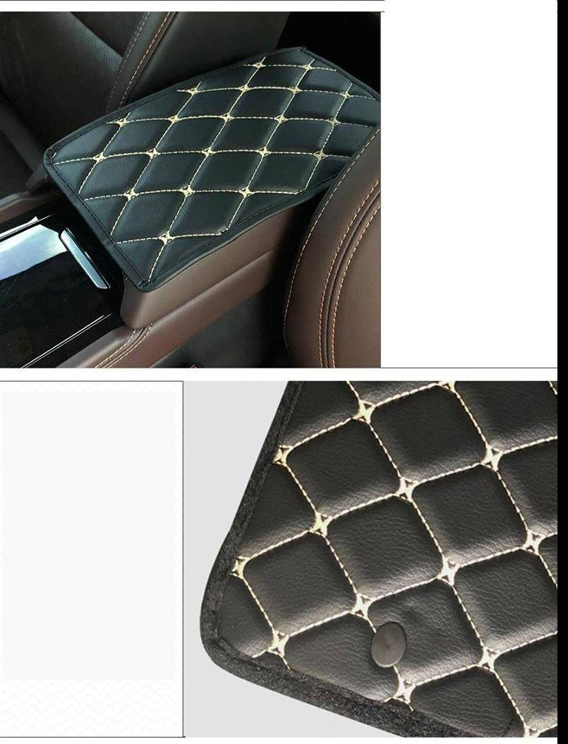 Leather Car Armrest Pad Cover