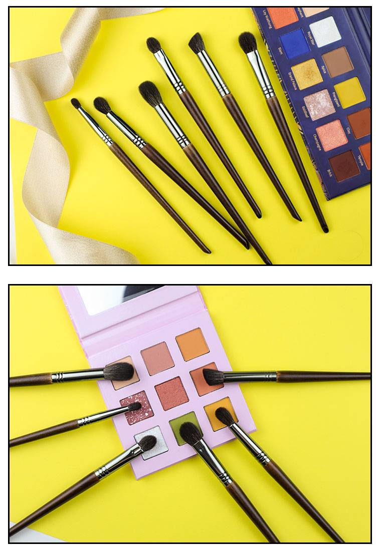 Ultra Soft Goat Hair Eye Makeup Brushes 6 Pcs Set