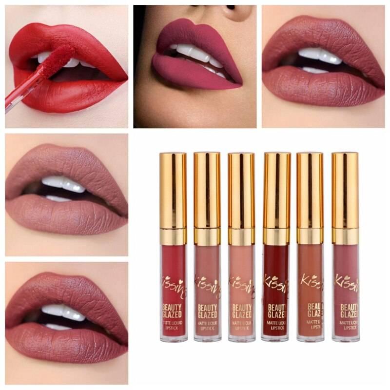Velvet Matte Lip Gloss 6 Pcs Set