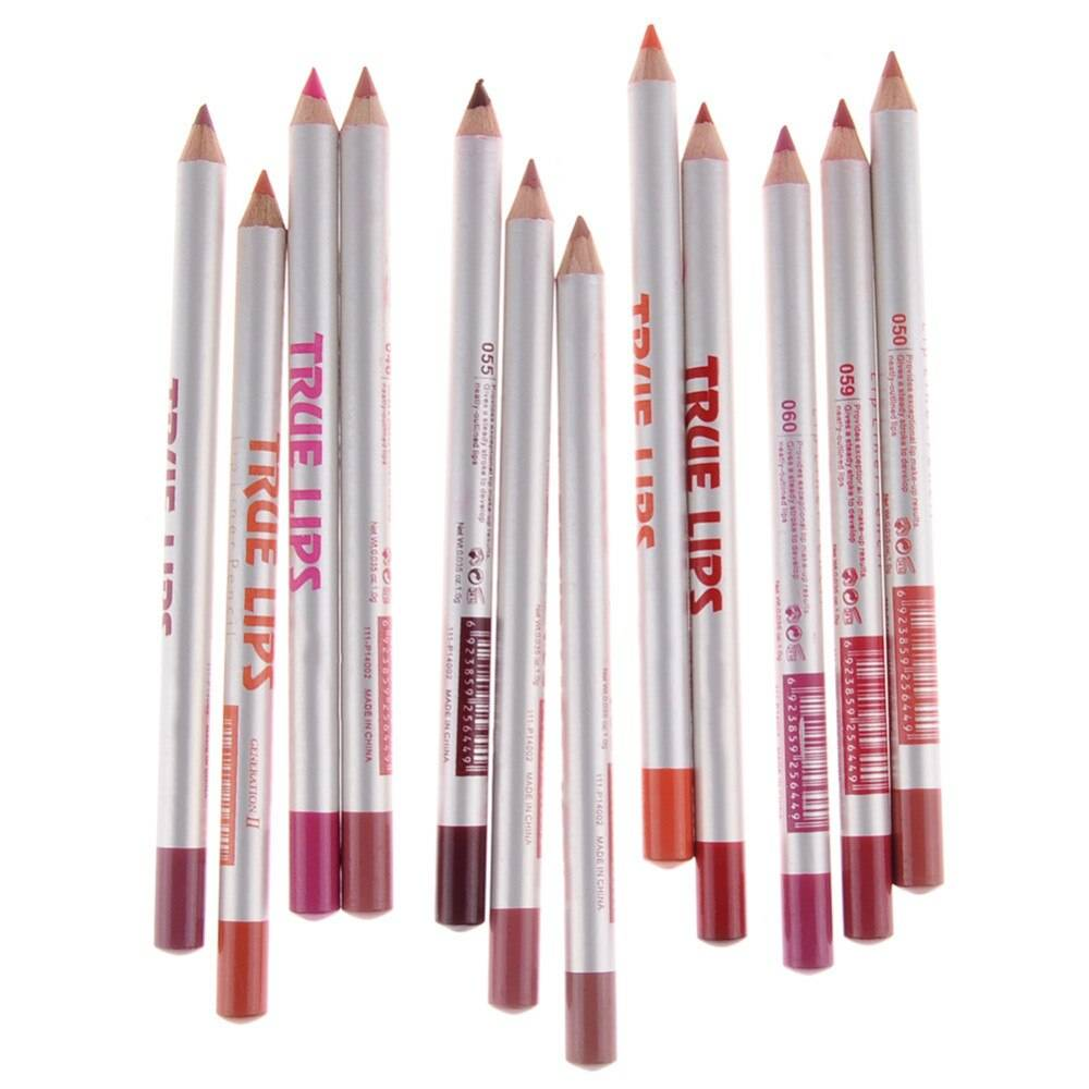 Pro Waterproof Lip Liner 12 Pcs Set