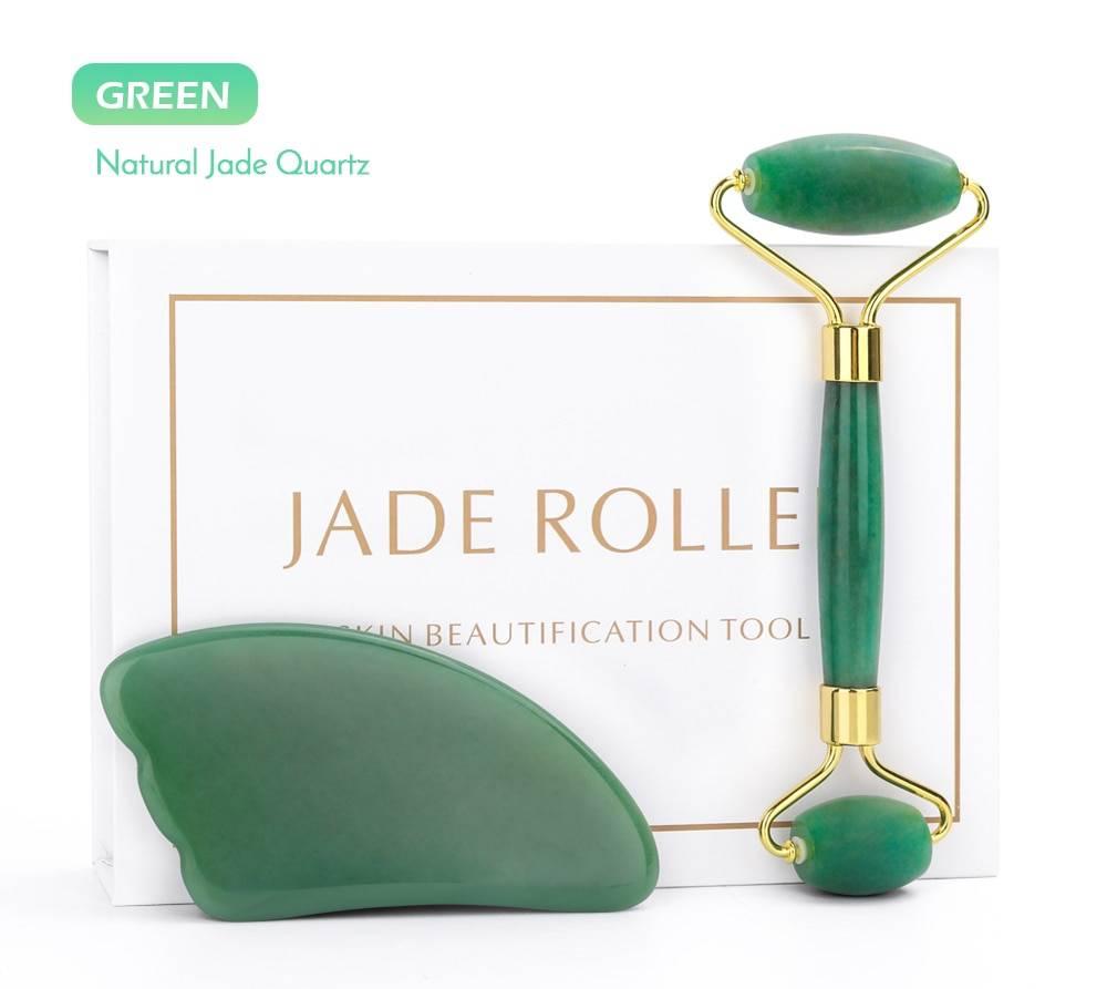 Rose Quartz Jade Face Massage Roller
