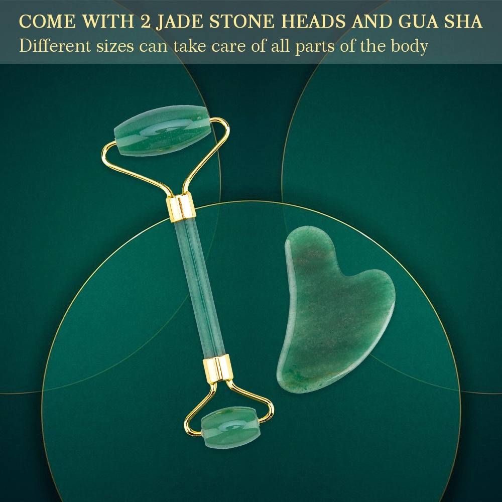 Lift Up Jade Stone Roller Massager for Face