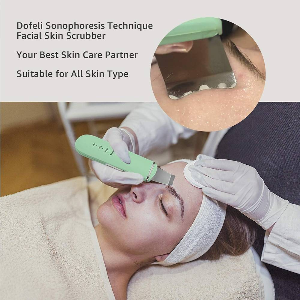 Ultrasonic Skin Scrubber for Facial Cleaning