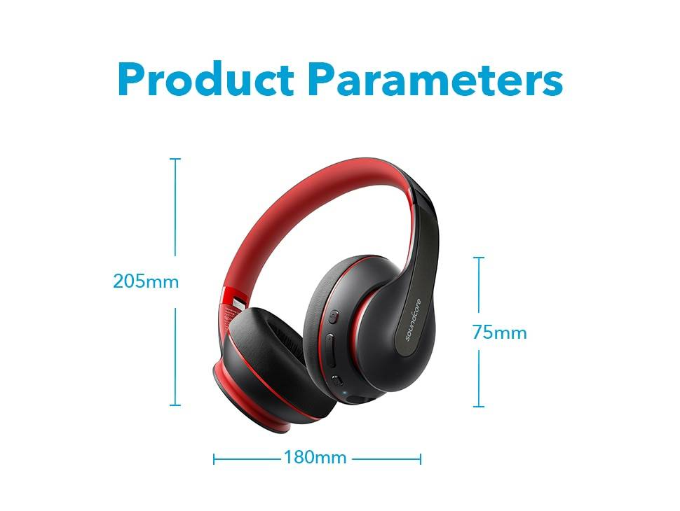 Wireless Bluetooth Headphones with 60-Hour Playtime
