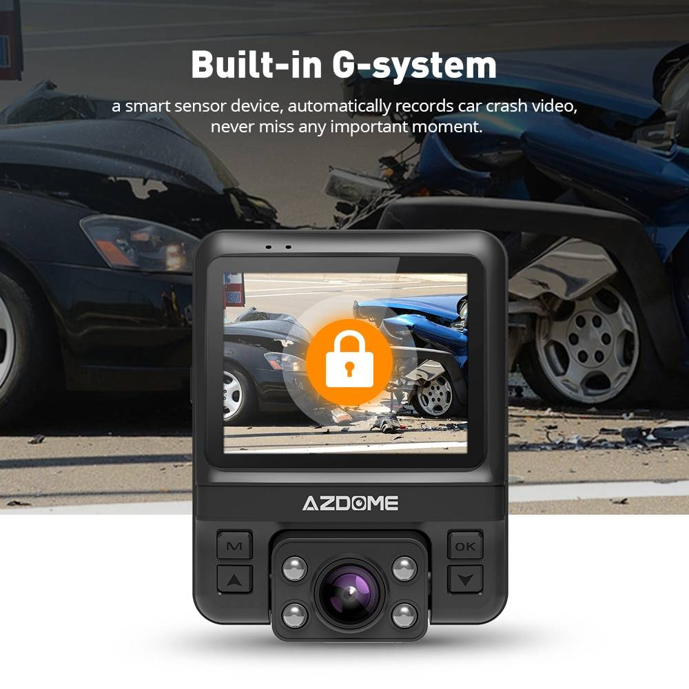 Mini Dual Lens Dashcam with Built-in GPS