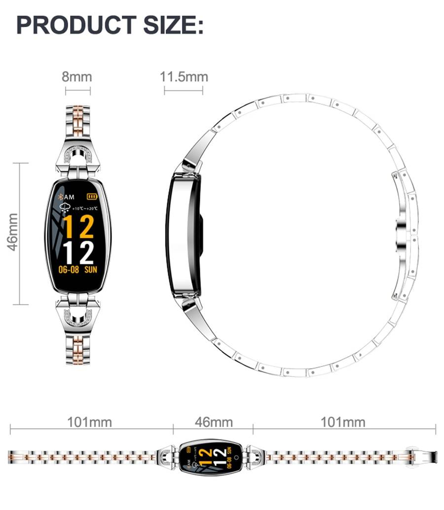 Crystal Strap OLED Smart Watch