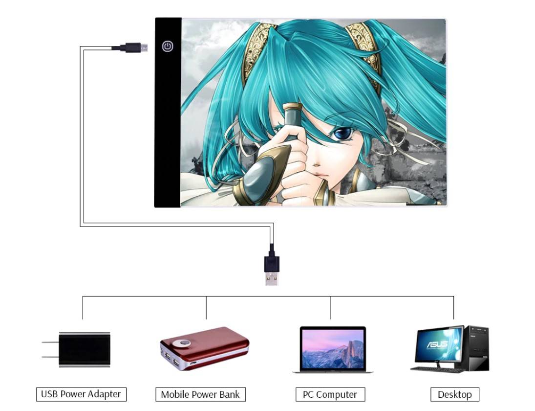Portable LED Drawing Tablet