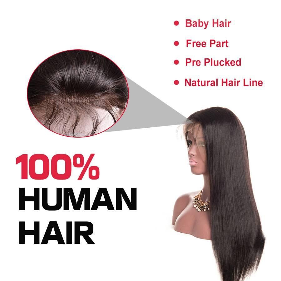 Malaysian Straight Black Wig