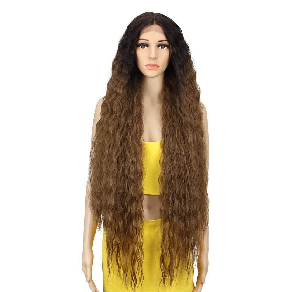 Blonde Super Long Wavy Lace Synthetic Hair Wig
