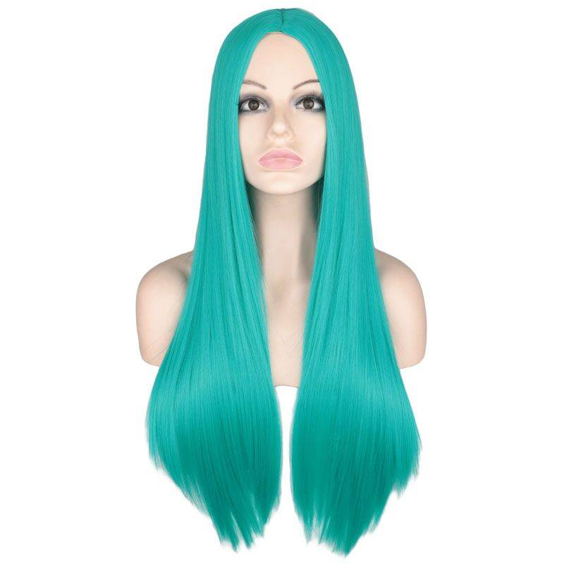 Bright Pre-Colored Long Straight Synthetic Hair Wig