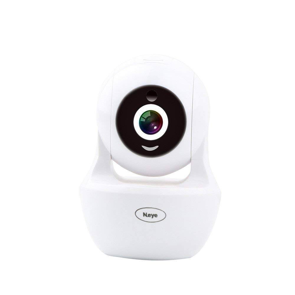 White Wireless Smart Camert with Built-in Microphone and Speaker