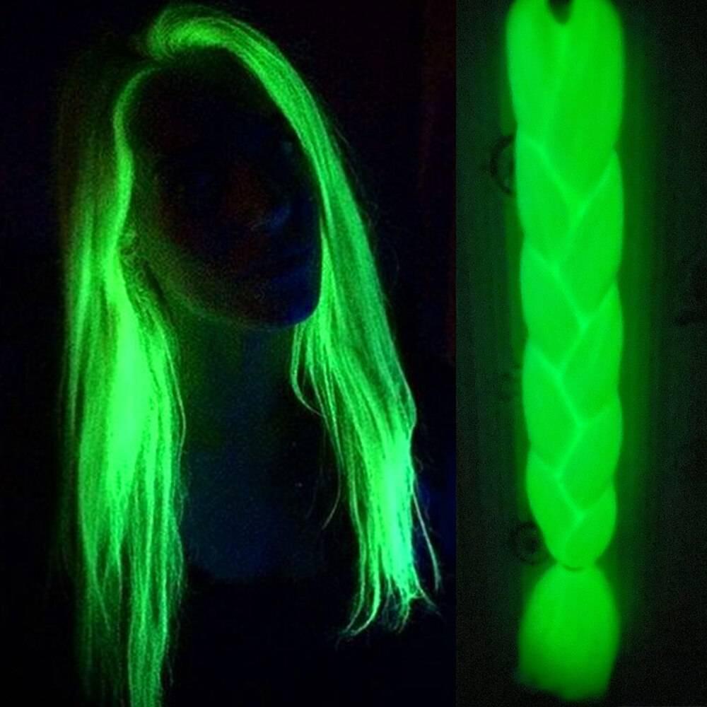Neon Glowing Synthetic Jumbo Braids