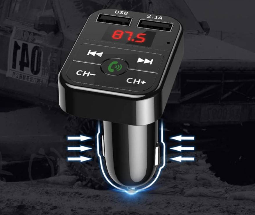 Bluetooth 5.0 FM Transmitter and Car Phone Charger