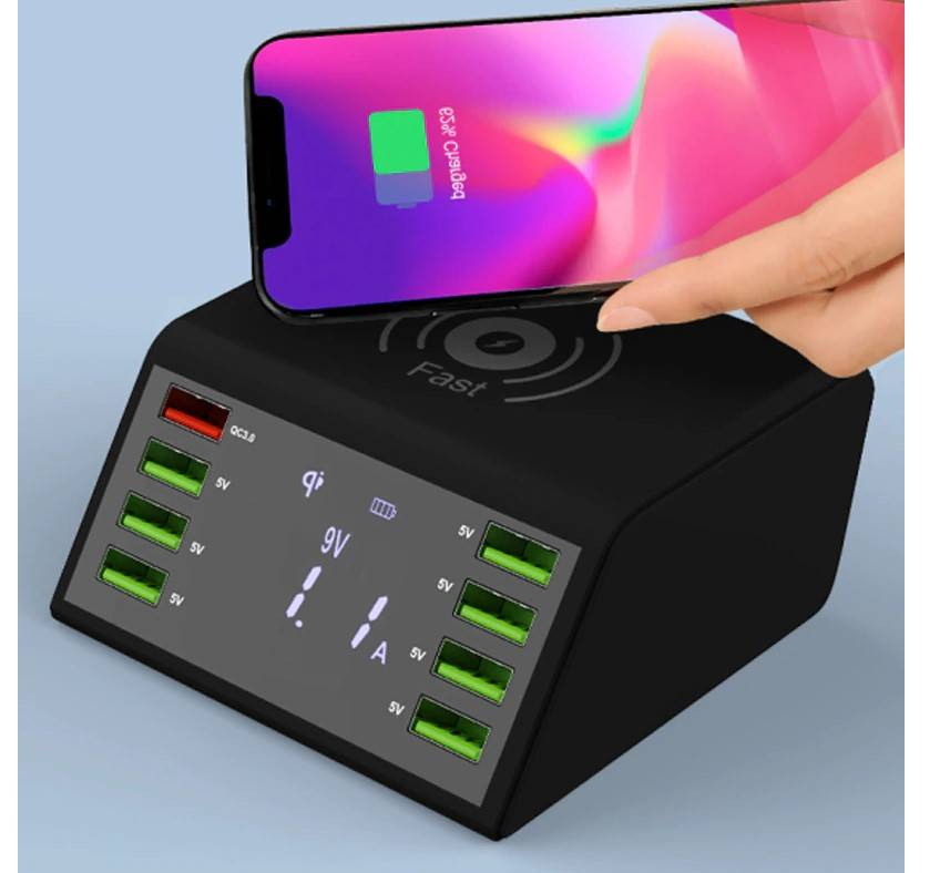 60W LED Display Wireless Charger