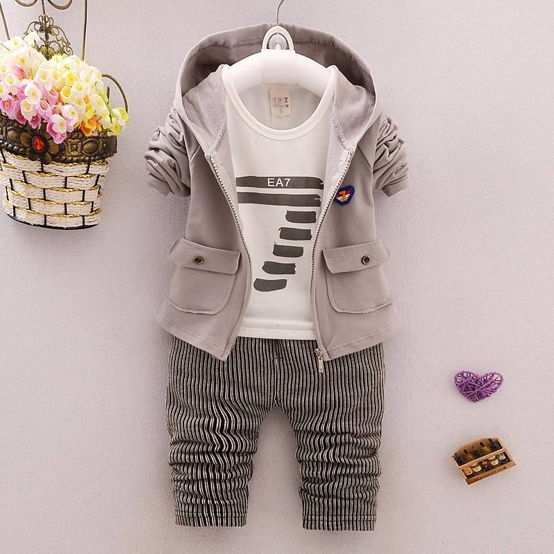 Baby Boy's Casual Hooded Clothing Set
