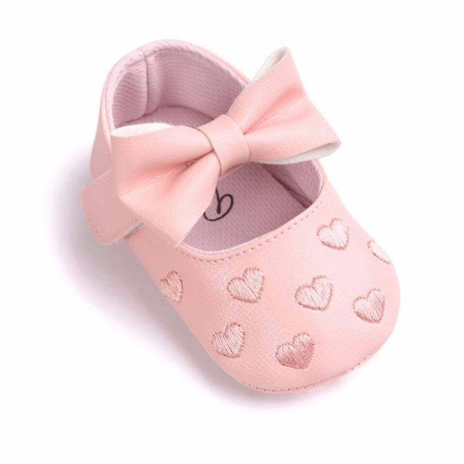 Baby Girl's Hearts Patterned Summer Shoes