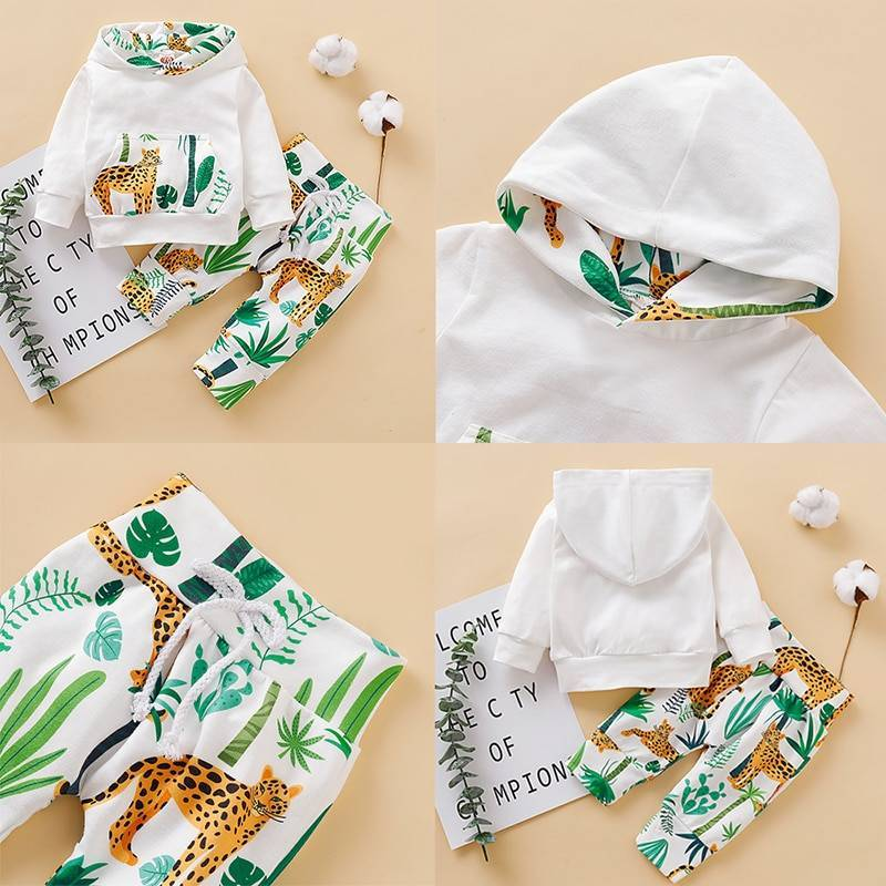 Baby's Winter Cotton Hooded Tracksuit