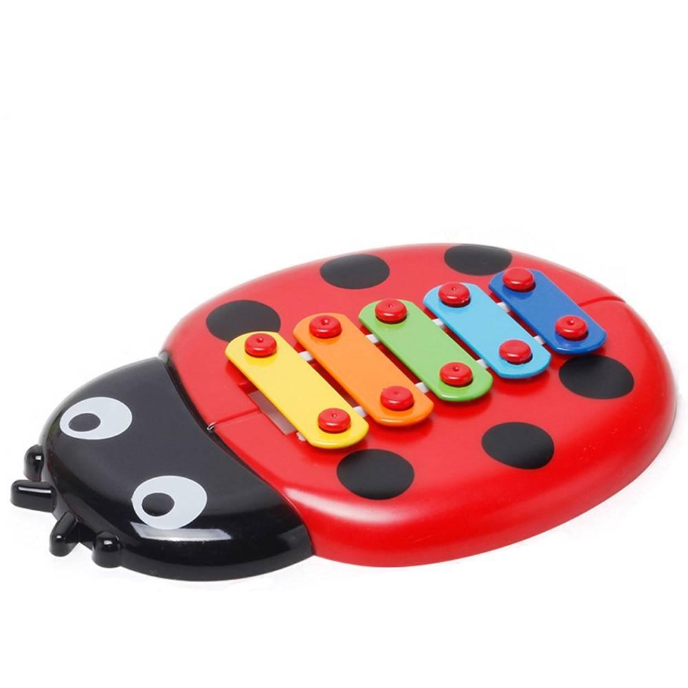 Colorful Ladybug Shaped Baby Xylophone Toy