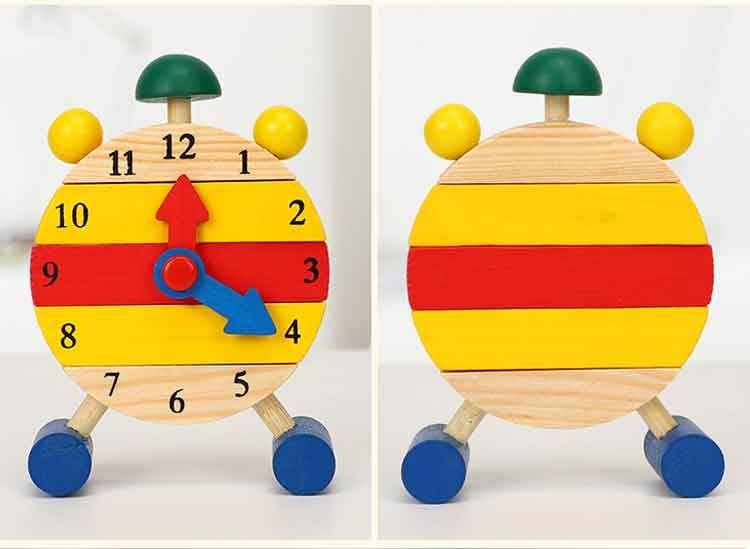 Educational Wooden Clock Toy