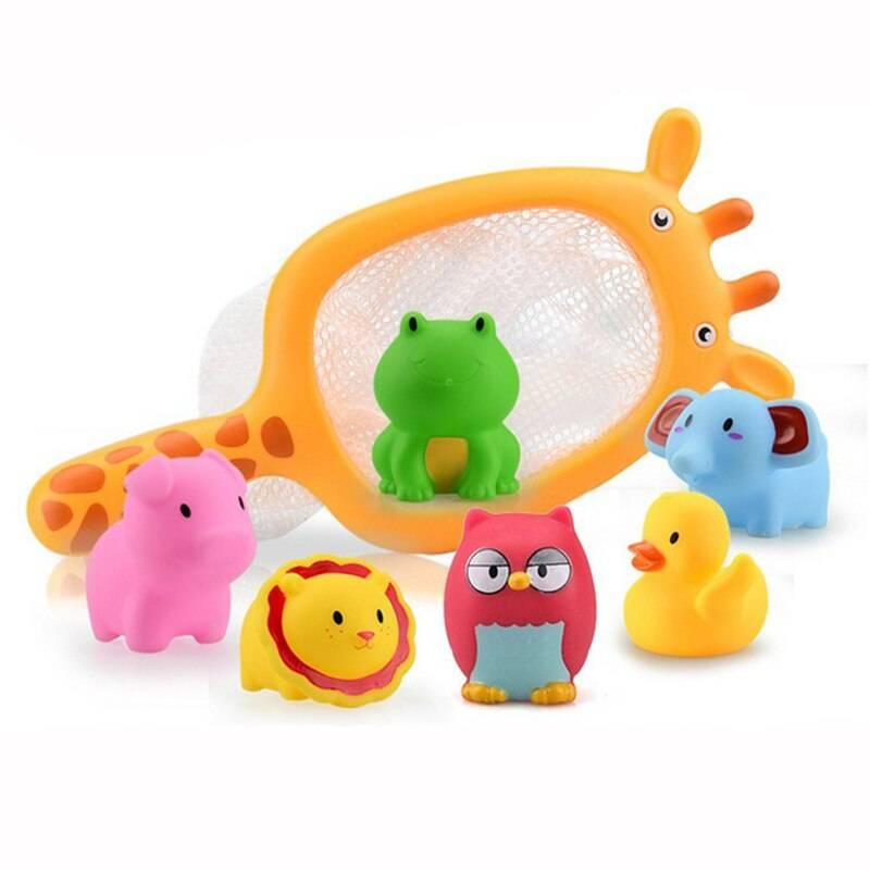 Fishing Toys with Net Set 7 Pcs
