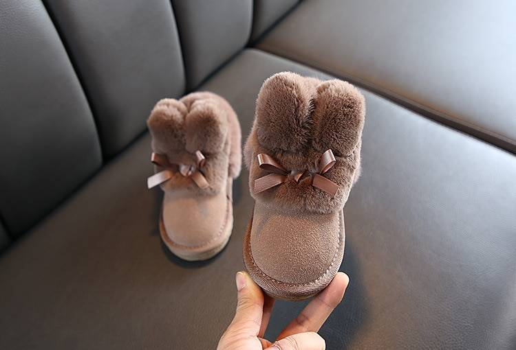 Girl's Bow Embellished Fur Winter Boots