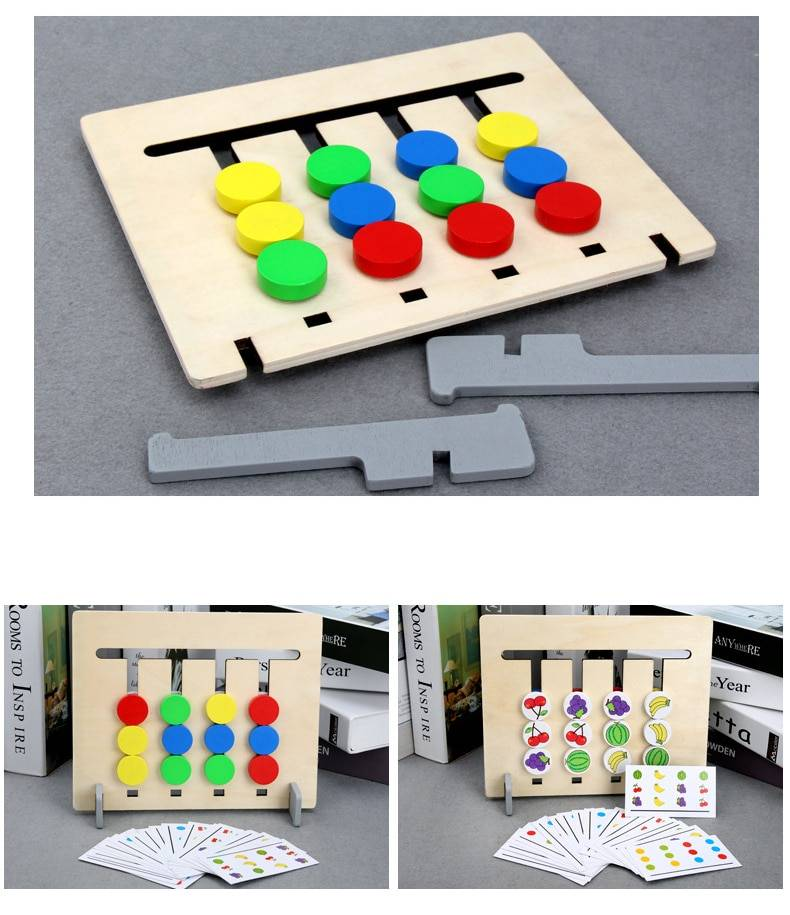 Kid's Double Side Wooden Montessori Toy