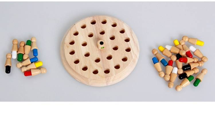 Multicolored Wooden Memory Toy for Children