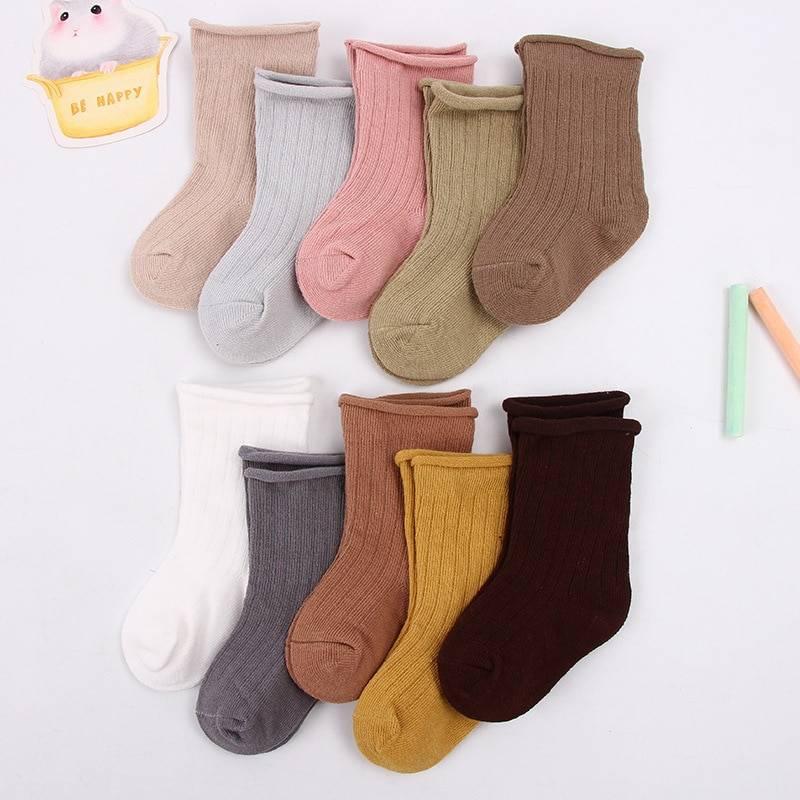 Set of 5 Baby Cotton Socks for Girls