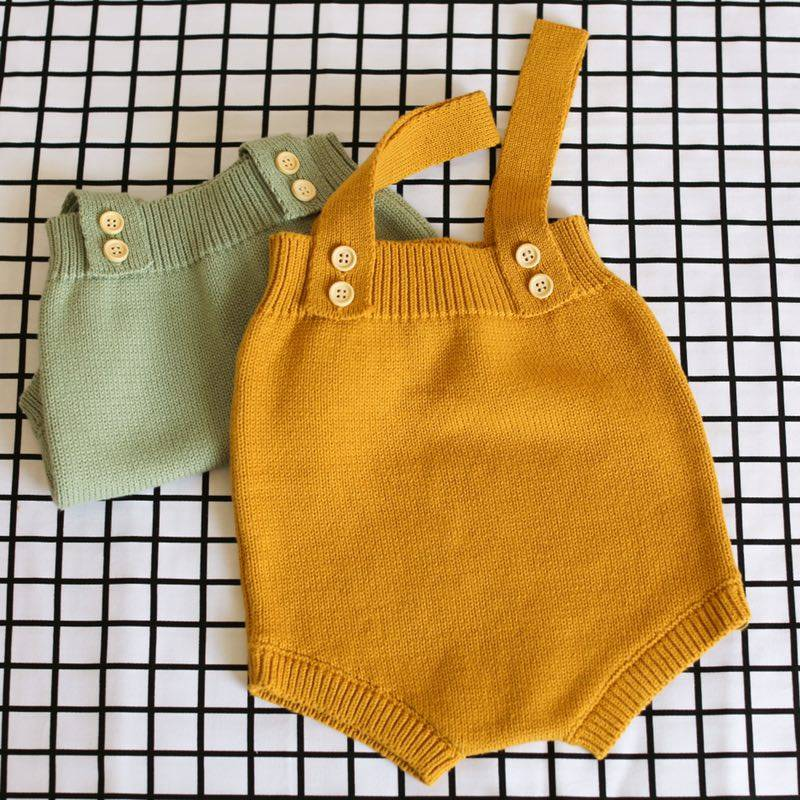 Solid Color Baby's Romper
