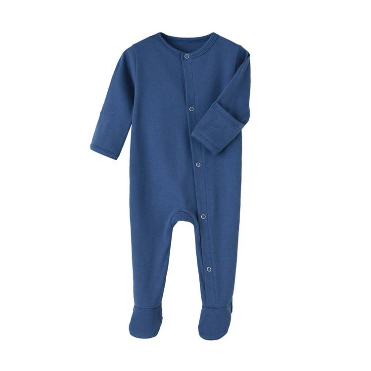 Solid Color Footed Sleep and Play Baby Bodysuit