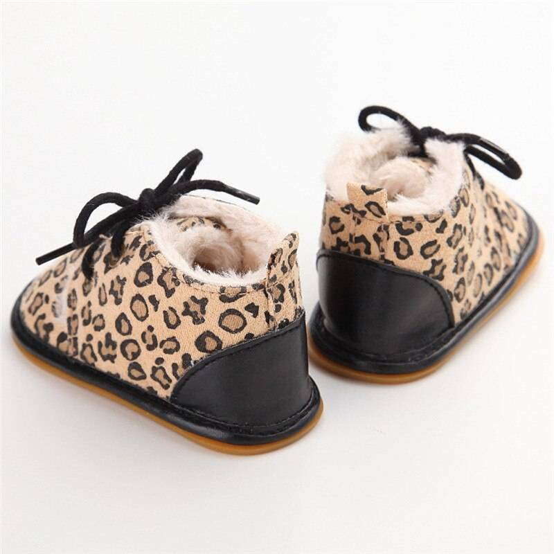 Suede Leather with Fur Baby Shoes