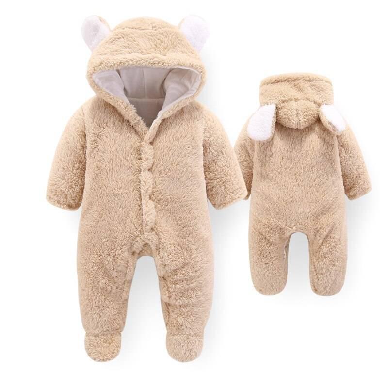 Warm Bear Shaped Hooded Baby's Romper